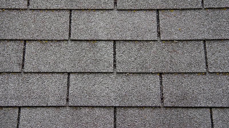 Dark gray asphalt shingles